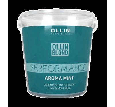 OLLIN PERFORMANCE Осветляющий порошок с ароматом мяты белого цвета