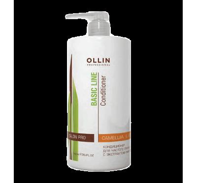 OLLIN BASIC LINE Кондиционер для частого применения с экстрактом листьев камелии