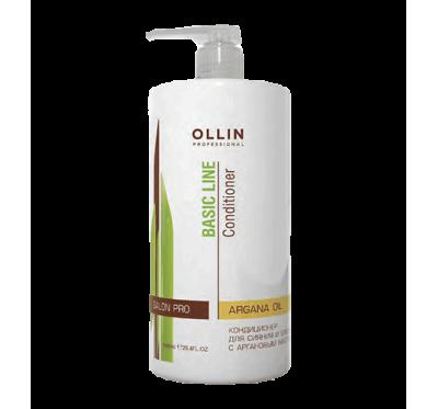 OLLIN BASIC LINE  Кондиционер для сияния и блеска с аргановым маслом