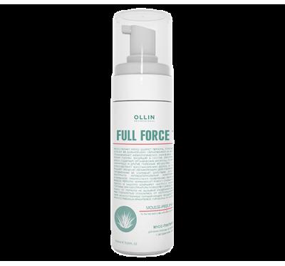 OLLIN FULL FORCE Мусс-пилинг для волос и кожи головы с экстрактом алоэ